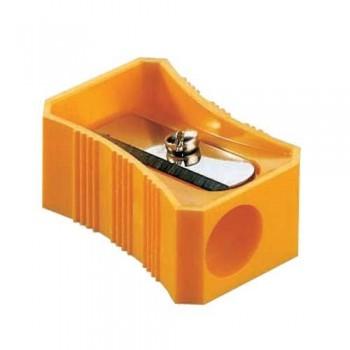 Afilalápiz simple plástico rectangular.