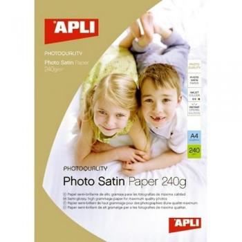 PAPEL FOTO A4 240 GR. 25 HOJAS SATINADO PARA INKJET APLI