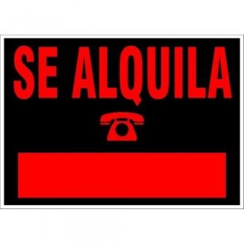 CARTEL SE ALQUILA 500X350 NEGRO ARCHIVO 2000