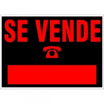 CARTEL MODELO pequeño SE VENDE 500X230 NEGRO ARCHIVO 2000