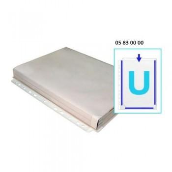 FUNDA MULTITALADRO A4 PVC FUELLE 180 MICRAS EN U BOLSA 5 UNID. GRAFOPLAS