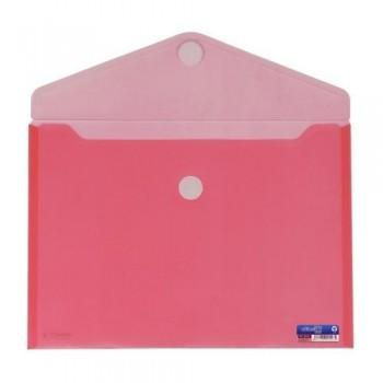 SOBRE A4+ PP CIERRE DE VELCRO 335 X250 MM ROJO OFFICE BOX