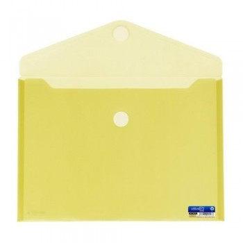 SOBRE A4+ PP CIERRE DE VELCRO 335 X250 MM AMARILLO OFFICE BOX