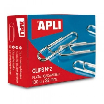 CLIPS PLATEADOS N 2 32 MM. APLI