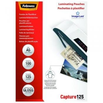 FUNDA PLASTIFICAR A5 125 MICRAS BRILLO CAJA 100 UNID. FELLOWES
