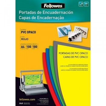 TAPAS ENCUADERNAR FELLOWES A4 PVC BLANCO OPACO