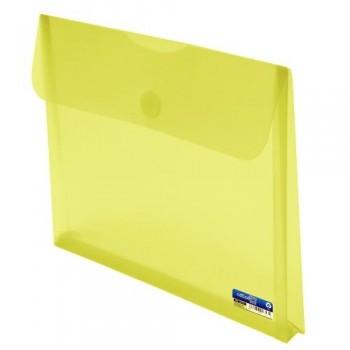 SOBRE A4+ PP CON FUELLE Y CIERRE VELCRO AMARILLO OFFICE BOX