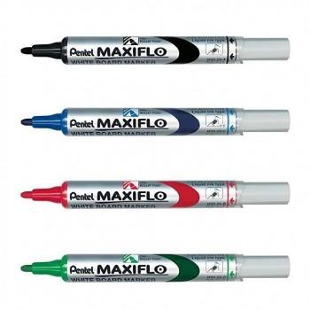 Marcador para pizarra blanca punta conica de 4mm azul Maxiflo