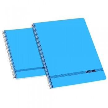 Cuaderno espiral folio 80 hojas liso Enri azul