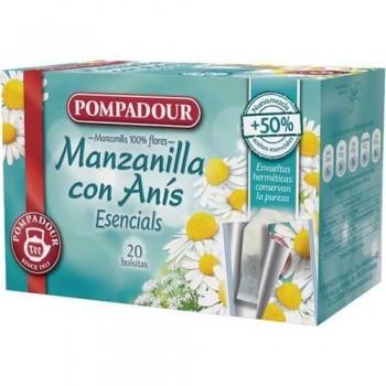 MANZANILLA CON ANÍS CAJA 20 BOLSITAS 1,25 GR. POMPADOUR
