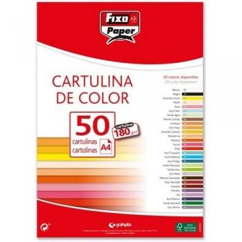 Cartulina rojo A4 180g paq. 100 hojas Fixo