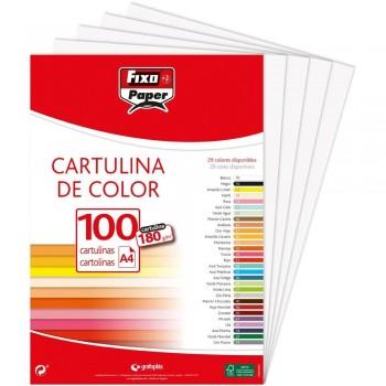 CARTULINA A4 180GR BLANCO FIXO 100 HOJAS