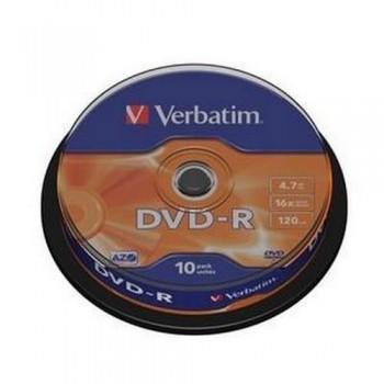 DVD -R 4.7GB 16X BOBINA 10 UNIDADES ADVANCED AZO VERBATIM