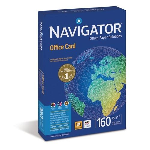 PAPEL A4 160 GR. 250 HOJAS BLANCO NAVIGATOR OFFICE CARD