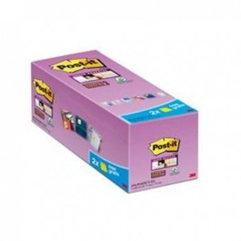 NOTAS POS IT SUPER STICKY 76X76MM CANARY PACK 16 BLOC 90H