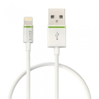 CABLE LIGHTNING APPLE A USB 30 CM BLANCO COMPLETE DE LEITZ