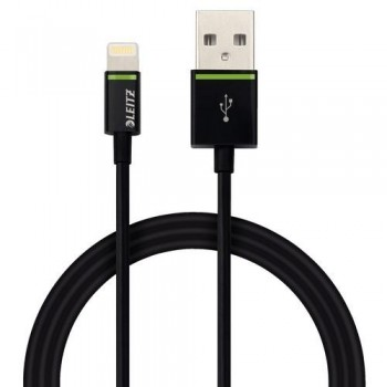 CABLE LIGHTNING APPLE A USB 1 M NEGRO COMPLETE DE LEITZ