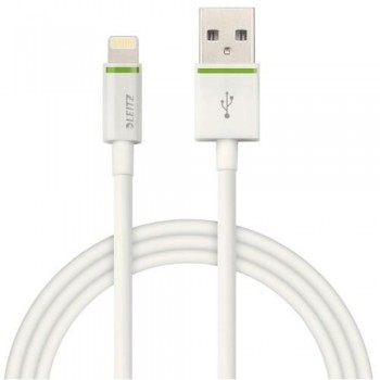 CABLE LIGHTNING APPLE A USB XL 2 M BLANCO COMPLETE DE LEITZ