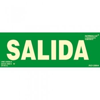 SEÑAL PVC NORMALIZADA SALIDA FOTOLUMINISCENTE 300X105MM ARCHIVO 2000