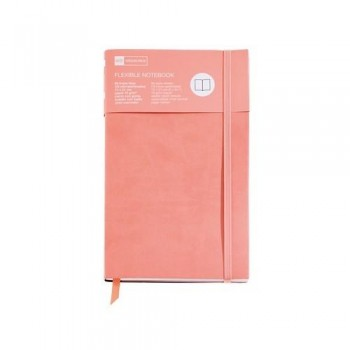 CUADERNO FLEXIBLE 130X210 96 HOJAS LISAS SALMÓN FLEXIBLE TOP NORDIC COLOURS MR