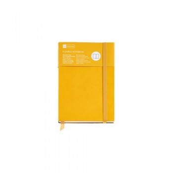 CUADERNO FLEXIBLE 130X210 96 HOJAS LISAS AMARILLO SUNFLOWER FLEXIBLE TOP NORDIC COLOURS MR