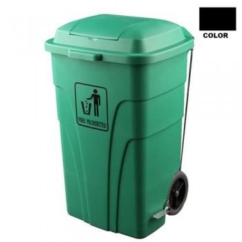 Contenedor de 120 litros para basuras,con pedal negro