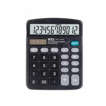 Calculadora 12 dígitos MTL negro