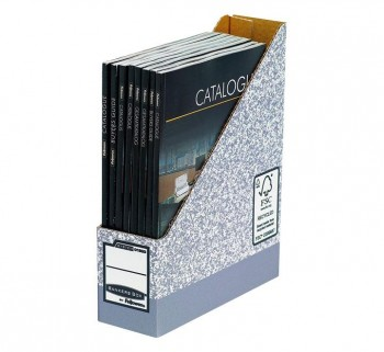 REVISTERO FELLOWES BANKERS BOX CARTON A4 GRIS