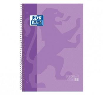 CUAD. OXFORD EBOOK1 A4 80H 5X5 T EXTRAD. LILA