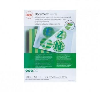 GBC C.100 BOLS PLAST 303X426 A3 125MIC. 3200725