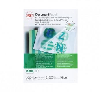 GBC C.100 BOLS PLAST 216X303 A4 125 MIC. 3200723