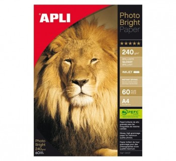 PAQ. 60H PAPEL APLI PHOTO BRIGHT 240G A4