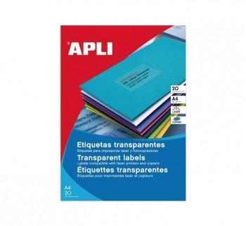 APL B20H ETIQ POLIESTER 48.5X25.4 TRANSL CANT.RECT