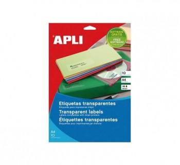 APL B10H ETIQ TRANSP INK COL 70X37