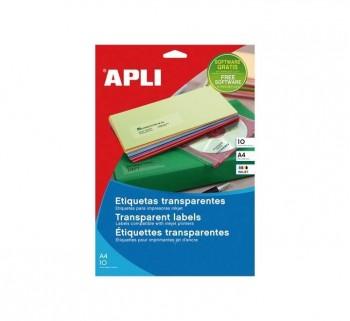 APL B10H ETIQ TRANSP. INK COL 210X297