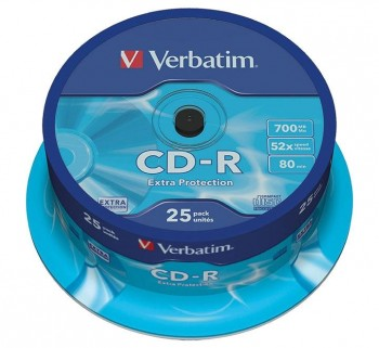 VERBATIM BOBINA 25U CD-R 700MB 52X SPINDLE 43432