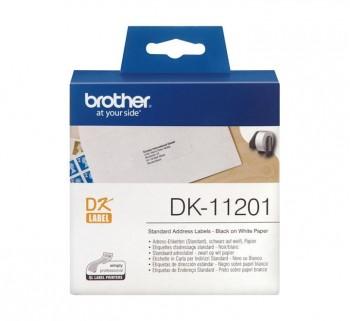 ETIQ BROTHER DIREC EST 29X90MM NG BL DK11201