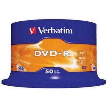 DVD -R 4.7GB 16X BOBINA 50 UNIDADES ADVANCED AZO VERBATIM