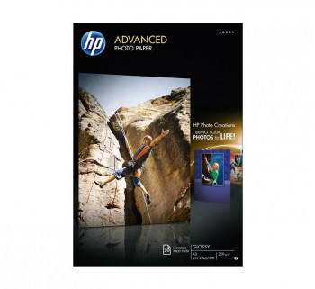 PAQ. 20H PAPEL FOTO HP Q8697A ADVANCED A3 250GR