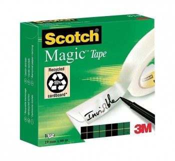 CINTA ADHESIVA SCOTCH MAGIC 810 19MMX66M 810 1966