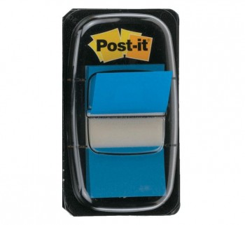 """DISPENSADOR 50 INDEX POST-IT 1\""\"" AZUL BRILL.       \"""