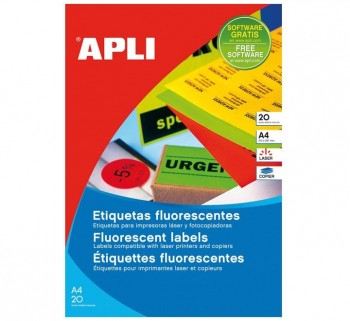 APL B20H ETIQ FLUOR ROJO 210X297 CANT.RECT