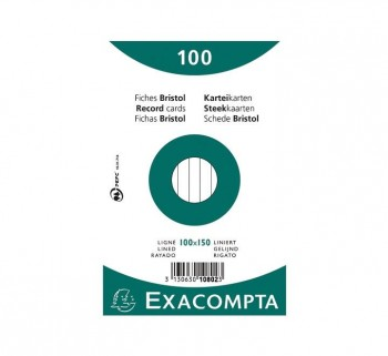 PAQ 100 FICHAS EXACOMPTA 100X150 HZT10802X
