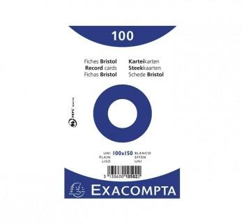 PAQ 100 FICHAS EXACOMPTA 100X150 LISO 10502E