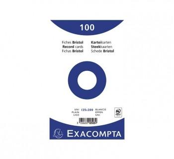 PAQ 100 FICHAS EXACOMPTA 125X200 LISO 10503E