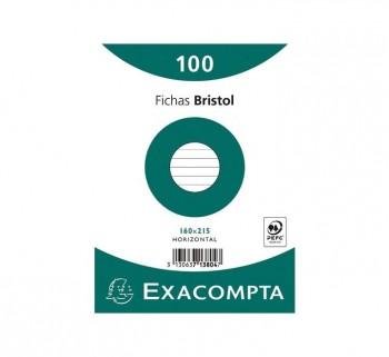 PAQ 100 FICHAS EXACOMPTA 160X215 HZT713804S
