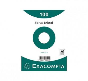 PAQ 100 FICHAS EXACOMPTA 160X215 LISO 10504S
