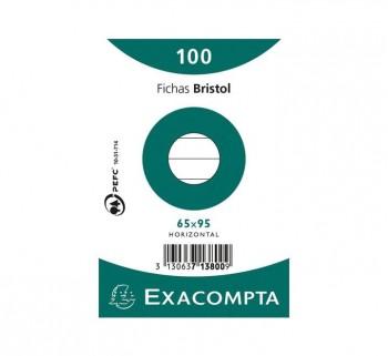 PAQ 100 FICHAS EXACOMPTA 65X95 HZT 713800S