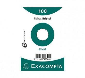 PAQ 100 FICHAS EXACOMPTA 65X95 LISO 10500S