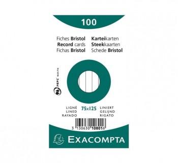 PAQ 100 FICHAS EXACOMPTA 75X125 HZT 10801X
